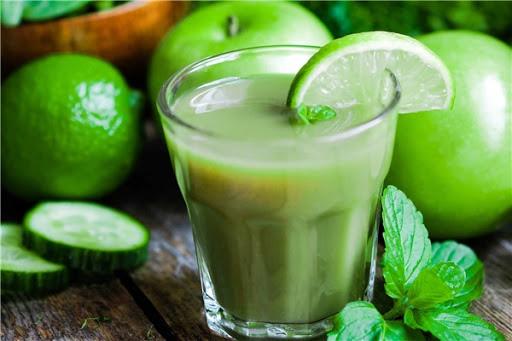 nước ép detox táo chanh